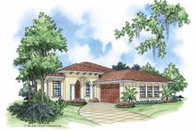 House Plan Design - Mediterranean Exterior - Front Elevation Plan #930-378