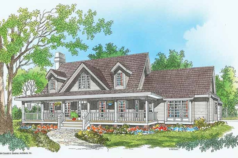 House Plan Design - Country Exterior - Front Elevation Plan #929-212