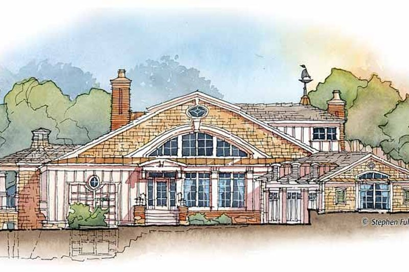 Craftsman Exterior - Front Elevation Plan #429-358