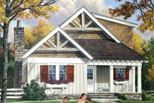 Architectural House Design - Craftsman Exterior - Front Elevation Plan #137-363