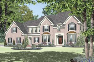 Classical Exterior - Front Elevation Plan #328-456