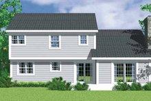 House Plan Design - Traditional Exterior - Rear Elevation Plan #72-1071