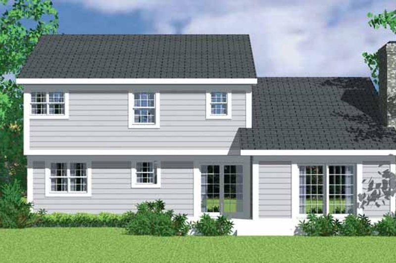 House Blueprint - Traditional Exterior - Rear Elevation Plan #72-1071