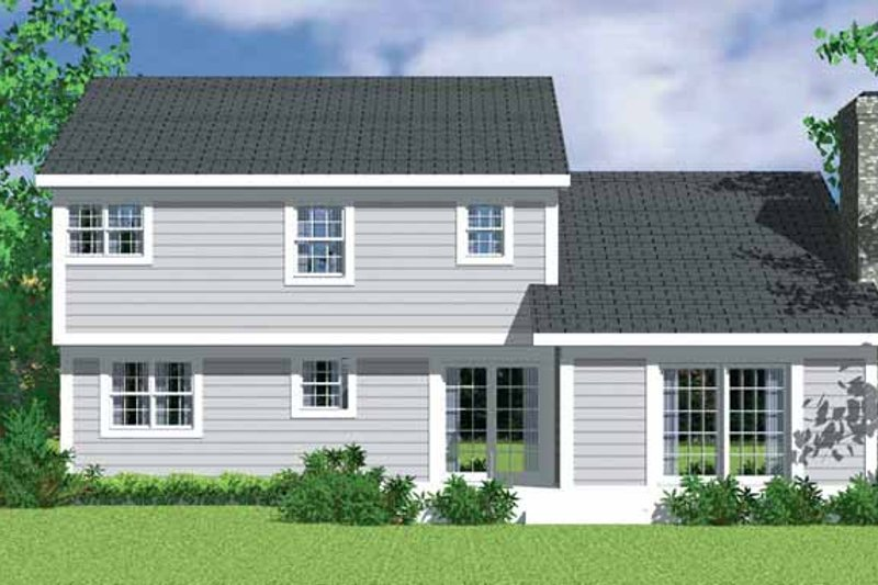 House Plan Design - Traditional Exterior - Rear Elevation Plan #72-1071