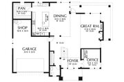 Modern Style House Plan - 3 Beds 2.5 Baths 2710 Sq/Ft Plan #48-938 Floor Plan - Main Floor Plan