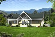 Country Style House Plan - 2 Beds 2 Baths 1500 Sq/Ft Plan #932-15 Exterior - Front Elevation