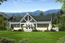 Country Exterior - Front Elevation Plan #932-15