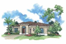 Mediterranean Exterior - Front Elevation Plan #930-381