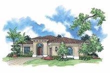 Architectural House Design - Mediterranean Exterior - Front Elevation Plan #930-381