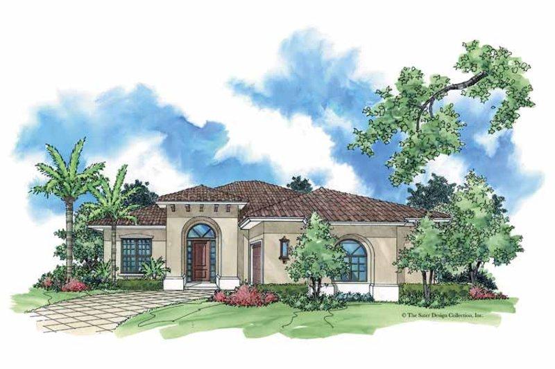 Mediterranean Exterior - Front Elevation Plan #930-381 - Houseplans.com