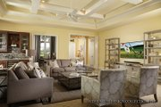 Mediterranean Style House Plan - 3 Beds 4.5 Baths 3371 Sq/Ft Plan #930-456 Interior - Family Room