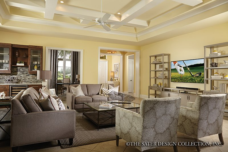 Mediterranean Interior - Family Room Plan #930-456 - Houseplans.com