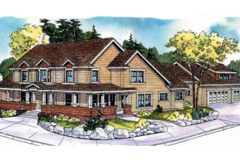 Farmhouse Exterior - Front Elevation Plan #124-694 - Houseplans.com