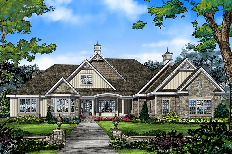 Home Plan - European Exterior - Front Elevation Plan #929-1020
