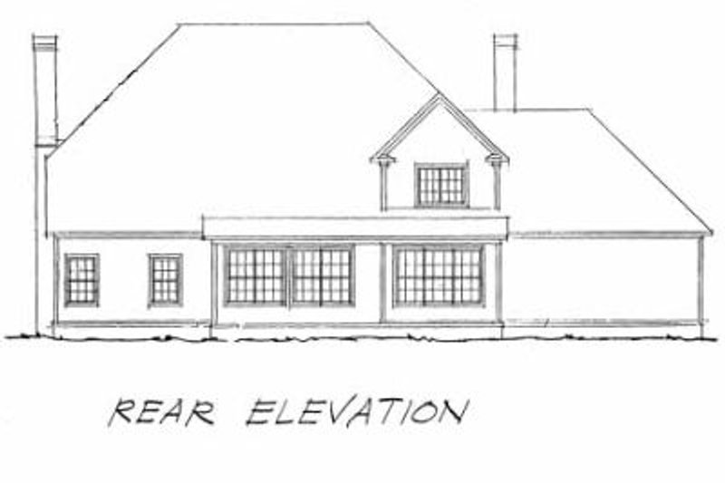 Southern Exterior - Rear Elevation Plan #20-336 - Houseplans.com