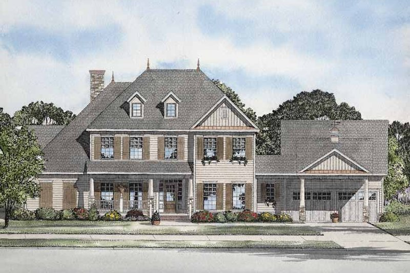 House Plan Design - Colonial Exterior - Front Elevation Plan #17-2860