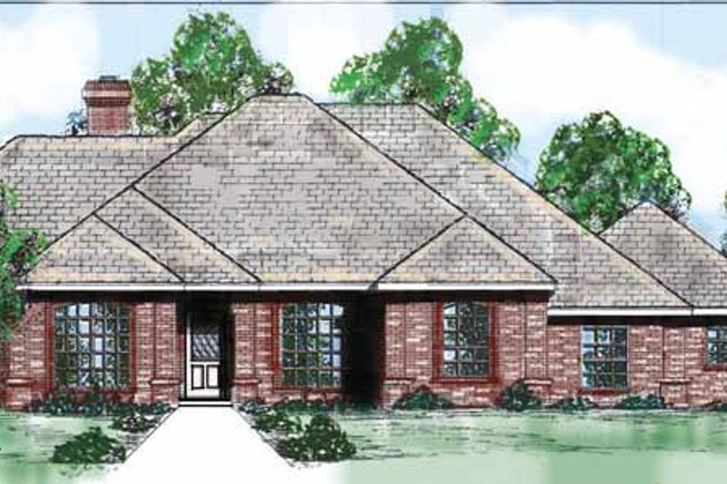 Country Exterior - Front Elevation Plan #52-252 - Houseplans.com