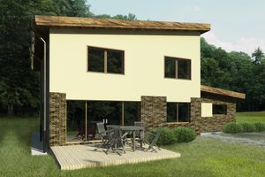 Contemporary Exterior - Front Elevation Plan #906-5