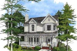 Victorian Exterior - Front Elevation Plan #56-150