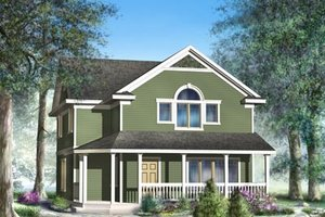 Cottage Exterior - Front Elevation Plan #95-234