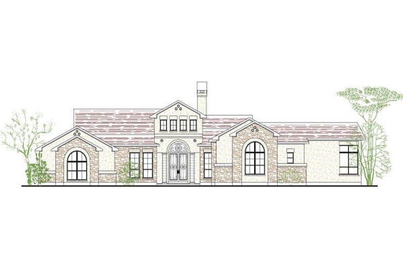 Architectural House Design - Mediterranean Exterior - Front Elevation Plan #80-189