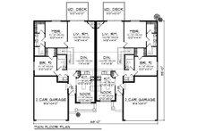 Traditional Floor Plan - Main Floor Plan Plan #70-892
