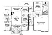 Ranch Style House Plan - 3 Beds 2.5 Baths 1992 Sq/Ft Plan #21-240 Floor Plan - Main Floor