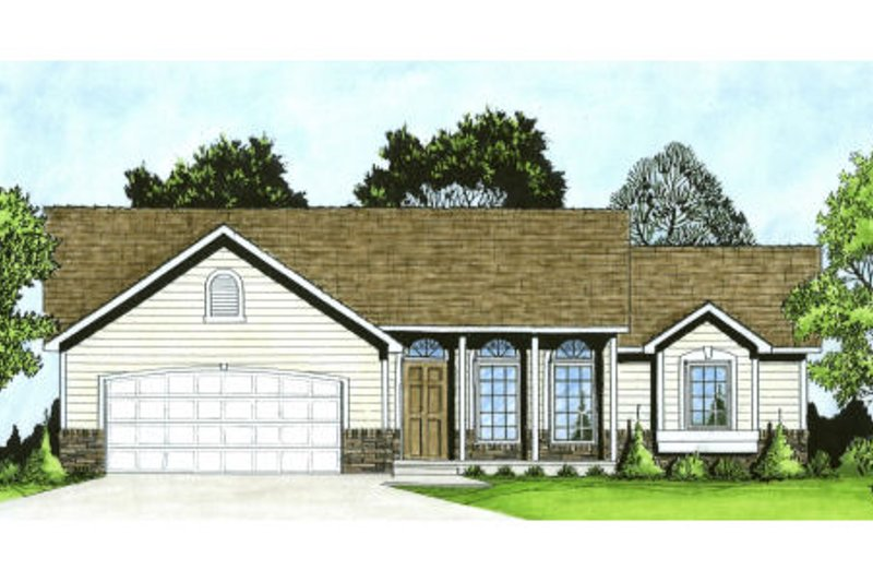 Home Plan - Traditional Exterior - Front Elevation Plan #58-191