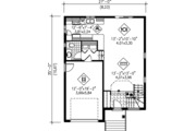 Modern Style House Plan - 3 Beds 1.5 Baths 1497 Sq/Ft Plan #25-4230 Floor Plan - Main Floor