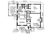 Country Style House Plan - 3 Beds 2 Baths 1397 Sq/Ft Plan #315-102 Floor Plan - Main Floor