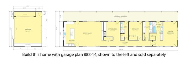 Ranch Floor Plan - Other Floor Plan Plan #888-16