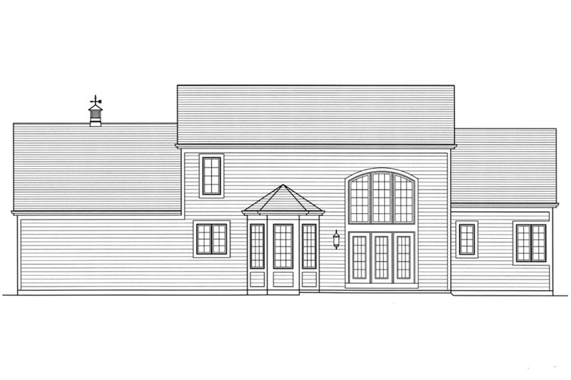 Country Exterior - Rear Elevation Plan #46-428 - Houseplans.com