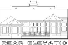 Cottage Exterior - Rear Elevation Plan #120-146