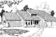 Contemporary Style House Plan - 4 Beds 2.5 Baths 2590 Sq/Ft Plan #312-126 Exterior - Front Elevation