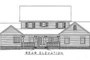 Country Style House Plan - 5 Beds 2.5 Baths 2571 Sq/Ft Plan #11-216 Exterior - Rear Elevation