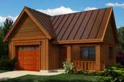 Cottage Style House Plan - 0 Beds 0 Baths 580 Sq/Ft Plan #118-122 Exterior - Front Elevation