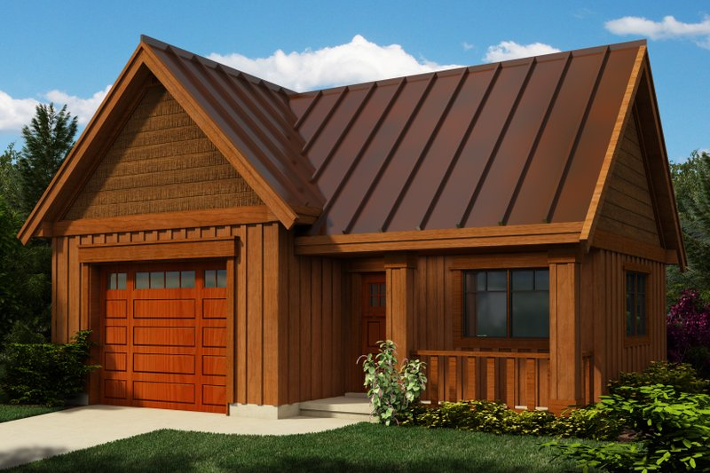 Cottage Exterior - Front Elevation Plan #118-122 - Houseplans.com