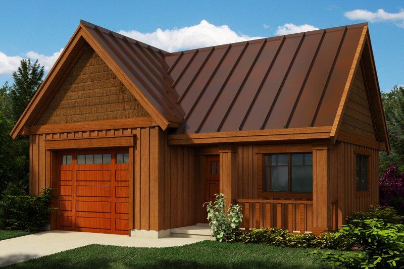 Cottage Exterior - Front Elevation Plan #118-122