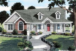 Cottage Exterior - Front Elevation Plan #312-618