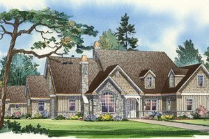 Traditional Exterior - Front Elevation Plan #490-7