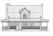 Country Exterior - Rear Elevation Plan #140-183