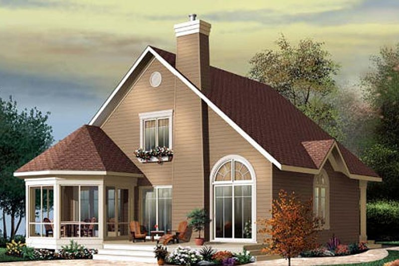 Exterior - Front Elevation Plan #23-758