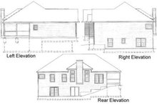 Traditional Exterior - Rear Elevation Plan #31-101