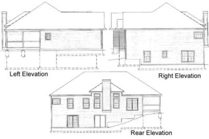 Traditional Exterior - Rear Elevation Plan #31-101 - Houseplans.com