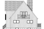 Modern Style House Plan - 3 Beds 2.5 Baths 1426 Sq/Ft Plan #126-103 Exterior - Rear Elevation