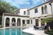 Mediterranean Style House Plan - 3 Beds 3 Baths 4795 Sq/Ft Plan #1058-15 Exterior - Rear Elevation