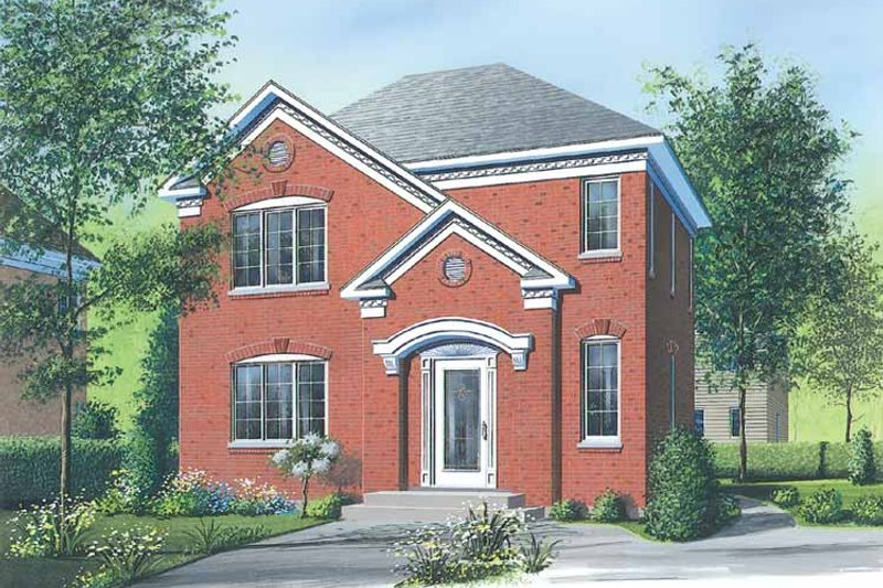 European Exterior - Front Elevation Plan #23-2449