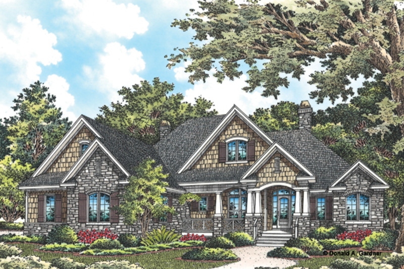 Craftsman Exterior - Front Elevation Plan #929-949 - Houseplans.com