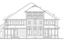 Craftsman Exterior - Rear Elevation Plan #132-513