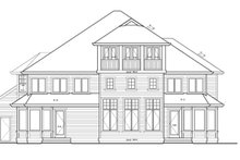 Craftsman Exterior - Rear Elevation Plan #132-513
